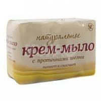 Крем-мыло Невская Косметика Натуральное с протеинами шелка 4х100 грамм