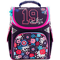 Школьный каркасный рюкзак kite gopack go18-5001s-10 для девочки младших классов