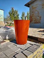 Вазон бетонный уличный, горшок для сада, дома и террасы