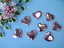 Патчи сердечки розовые из эко-кожи d - 5 см. 2.5 грн  от 10 шт