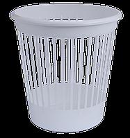 Офисная корзина для бумаг arnika 82062 белый пластик