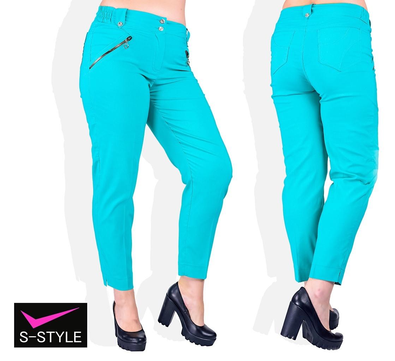 Летние женские брюки большого размера 48,50,52,54,56,58