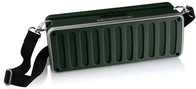 Портативная Bluetooth колонка SPS X11S LCD, зеленая