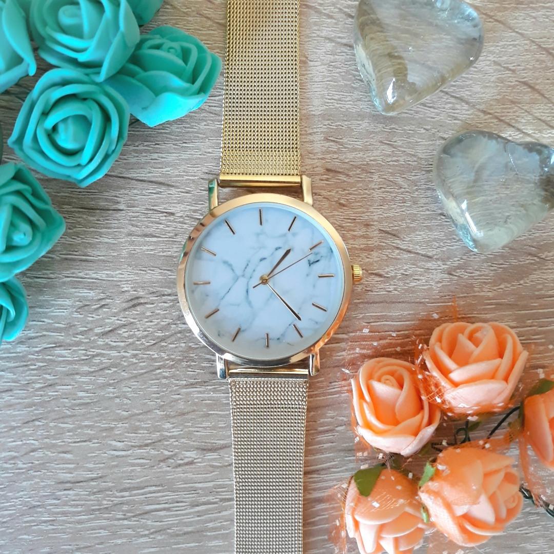 Женские часы Classic под мрамор золотые, жіночий наручний ...