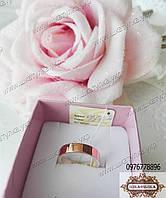 Серебряное обручальное кольцо  с золотом №2н, фото 1