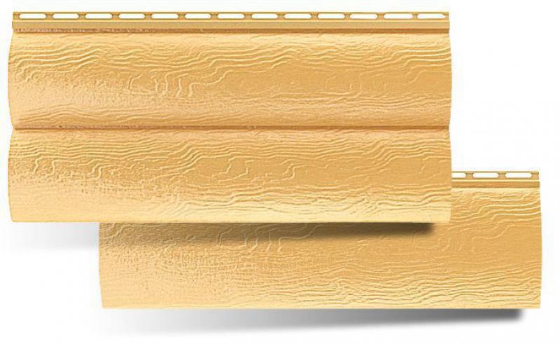 Сайдинг блок-хаус 2-х переломный Золотистый