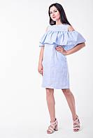 Летнее платья для кормящих Lullababe Athens Голубой с белым