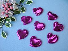 Патчи сердечки малиновые из эко-кожи d - 5 см. 2.5 грн  от 10 шт