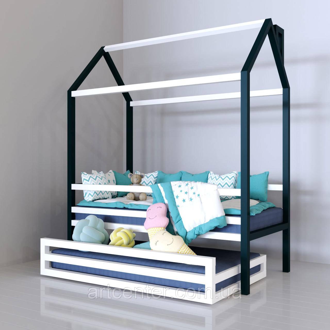 Детская кроватка-домик с ящиком