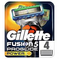 Сменные картриджи для бритья Gillette Fusion5 ProGlide Power (4 штуки)