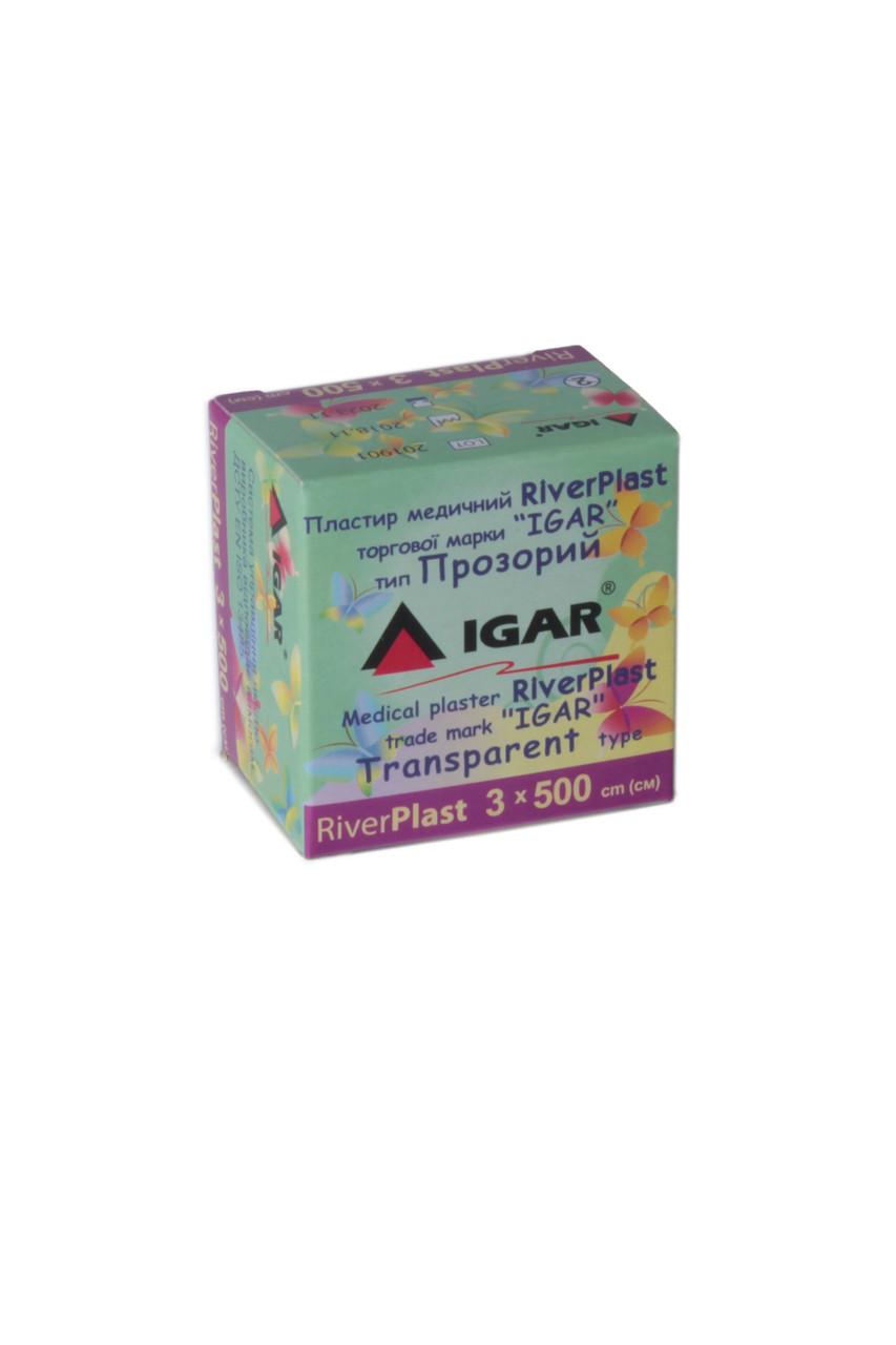 Пластырь RiverPlast 3*500см тип Прозрачный IGAR (катушка)