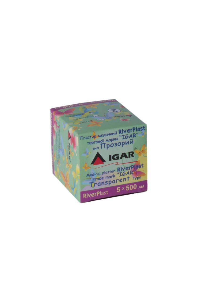 Пластырь RiverPlast 5*500см тип Прозрачный IGAR (катушка)