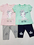 Костюм на лето футболка, лосины для девочки  на 1,5 года,2 года,3 года , фото 4