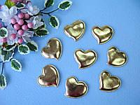 Патчи сердечки золотые из эко-кожи d - 5 см. 2.5 грн  от 10 шт