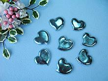 Патчи сердечки голубые из эко-кожи d - 5 см. 2.5 грн  от 10 шт