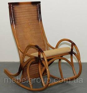 Кресло-качалка плетеное из ротанга Каприз
