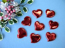 Патчи сердечки красные из эко-кожи d - 5 см. 2.5 грн  от 10 шт