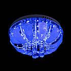"""Люстра """"торт"""" на 5 лампочок з LED підсвічуванням на пульті управління СветМира PM-1005/5, фото 3"""