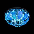 """Люстра """"торт"""" на 5 лампочок з LED підсвічуванням на пульті управління СветМира PM-1005/5, фото 2"""