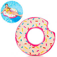 Круг надувной пончик Intex 107*99 см (56265)