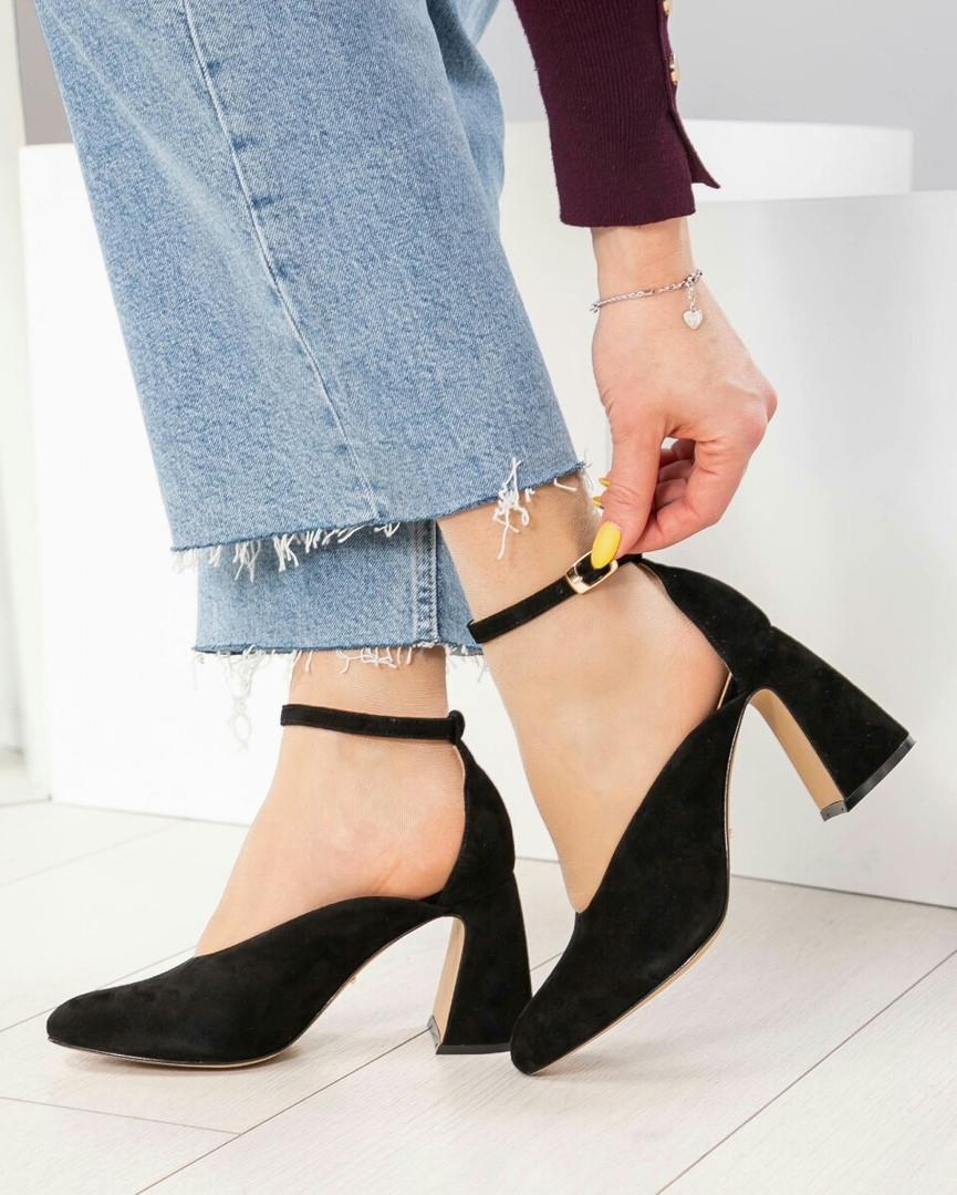 Открытые туфли женские черные