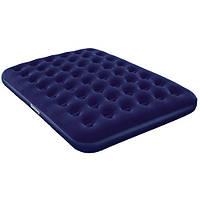 Велюровый синий матрас Bestway (203х185 см)