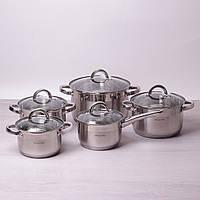 Набор посуды Kamille из нержавеющей стали 10 предметов, фото 1