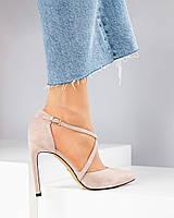 Туфли женские с ремешками бежевые, фото 1