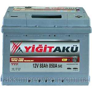 Аккумулятор автомобильный Yigit Aku Grey TT7 88AH R+ 850A