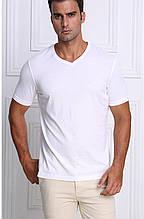 1829 Мужская футболка 100% х/б 1 шт./12 белый