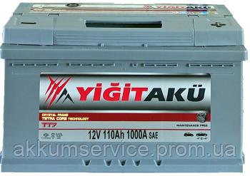Аккумулятор автомобильный Yigit Aku Grey TT7 110AH R+ 1000A