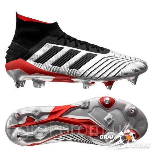 58927046 Бутсы adidas Predator 19.1 SG Silver/Black/Red: продажа, цена в ...