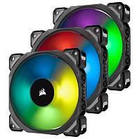 Вентилятор Corsair ML120 Pro RGB 3 Fan Pack (CO-9050076-WW), 120x120x25мм, 4-pin, черный