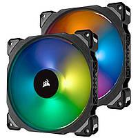 Вентилятор Corsair ML140 Pro RGB Twin Pack (CO-9050078-WW), 140x140x25мм, 4-pin, черный