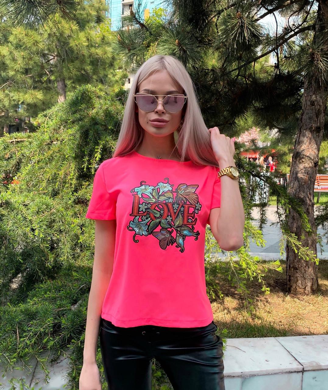 Яркая футболка женская с рисунком, фото 1