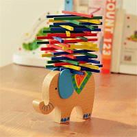 Деревянная игра Балансир слон Wood