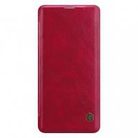 Кожаный чехол (книжка) Nillkin Qin Series для Samsung Galaxy S10, фото 1