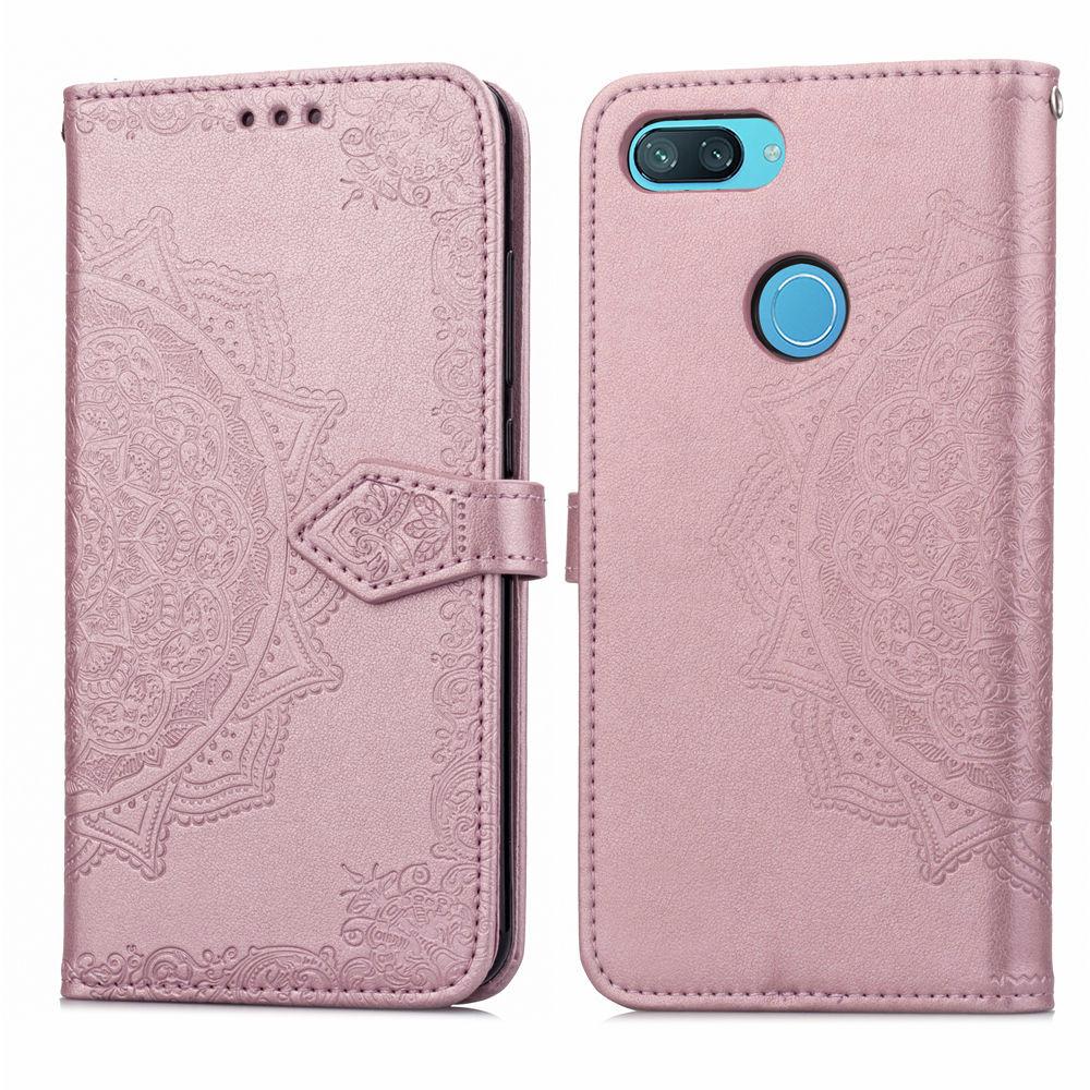 Кожаный чехол (книжка) Art Case с визитницей для Xiaomi Mi 8 Lite / Mi 8 Youth (Mi 8X) (Розовый)