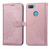 Кожаный чехол (книжка) Art Case с визитницей для Xiaomi Mi 8 Lite / Mi 8 Youth (Mi 8X) (Розовый), фото 1