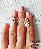 Серебряные серьги с жемчугом 0334.10