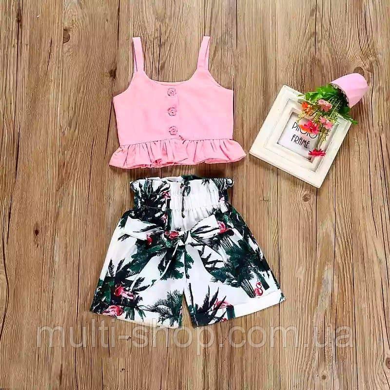 Летний набор шорты и топ для девочки Гавайи