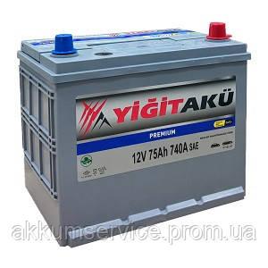 Аккумулятор автомобильный Yigit Aku Asia Premium 75AH L+ 740A