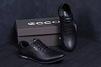 Мужские кожаные кроссовки Ecco Soft (реплика)