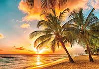 Фотообои - Тропический остров и закат, 368х254 см 4 листа