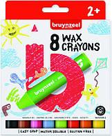 Набор детских восковых карандашей, 8 цв., экстра толстые, Bruynzeel