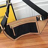 Поясная сумка, клатч на пояс от Фенди Peecaboo натуральная кожа, фото 2