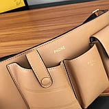 Поясная сумка, клатч на пояс от Фенди Peecaboo натуральная кожа, фото 3