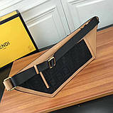 Поясная сумка, клатч на пояс от Фенди Peecaboo натуральная кожа, фото 5
