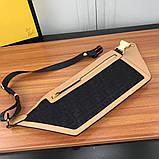 Поясная сумка, клатч на пояс от Фенди Peecaboo натуральная кожа, фото 7
