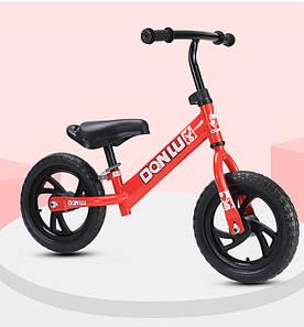 """Беговел Danlu Balance Bike 12"""" с проколостойкими шинами красный"""